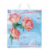 Пакет с петлевой ручкой ПНД, 42х38 см, 'Коралловые розы', 37 мкм, н00083908