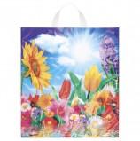 Пакет с петлевой ручкой ПНД, 42х38 см, 'Море цветов', 37 мкм, н00084436