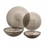Набор посуды столовый, 20 предметов, дымчатое стекло, 'Louison Eclipse', LUMINARC, N8081