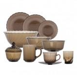 Набор посуды столовый, 44 предметов, дымчатое стекло, 'Ocean Eclipse', LUMINARC, L5110