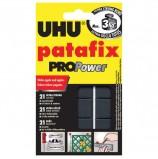 Подушечки клеящие UHU Patafix ProPower, 21 шт., сверхпрочные (до 3 кг), многоразовые, черные, 40790