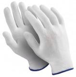 Перчатки нейлоновые MANIPULA 'Микрон', КОМПЛЕКТ 10 пар, размер 9 (L), белые, TNY-24/MG-101