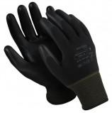 Перчатки нейлоновые MANIPULA 'Микропол', полиуретановое покрытие (облив), размер 7 (S), черные, TPU-12