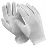 Перчатки хлопчатобумажные MANIPULA 'Атом', КОМПЛЕКТ 12 пар, размер 7 (S), белые, ТТ-44