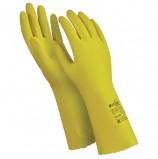 Перчатки латексные MANIPULA 'Блеск', хлопчатобумажное напыление, размер 7-7,5 (S), желтые, L-F-01