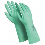 Перчатки латексные MANIPULA 'Контакт', хлопчатобумажное напыление, размер 7-7,5 (S), зеленые, L-F-02