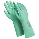 Перчатки латексные MANIPULA 'Контакт', хлопчатобумажное напыление, размер 8-8,5 (M), зеленые, L-F-02