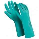 Перчатки нитриловые MANIPULA 'Дизель', хлопчатобумажное напыление, размер 9 (L), зеленые, N-F-06