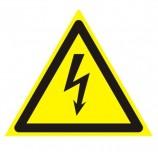 Знак предупреждающий 'Опасность поражения электрическим током', треугольник, 200х200х200 мм, 610007/W 08