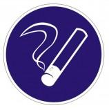 Знак предписывающий 'Курить здесь', круг, диаметр 200 мм, самоклейка, 6100028/М 15