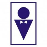 Знак вспомогательный 'Туалет мужской', прямоугольник, 120х190 мм, самоклейка, 610040/В 37