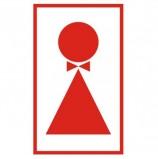 Знак вспомогательный 'Туалет женский', прямоугольник, 120х190 мм, самоклейка, 610041/В 38