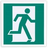 Знак эвакуационный 'Выход здесь (правосторонний)', 200х200 мм, самоклейка, фотолюминесцентный, Е 01-02