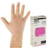 Перчатки виниловые смотровые, КОМПЛЕКТ 50 пар (100 шт.), неопудренные, нестерильные, M, MANUAL SV609, SV609-02