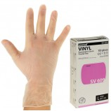 Перчатки виниловые смотровые, КОМПЛЕКТ 50 пар (100 шт.), неопудренные, нестерильные, L, MANUAL SV609, SV609-03