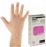 Перчатки виниловые смотровые, КОМПЛЕКТ 50 пар (100 шт.), неопудренные, нестерильные, XL, MANUAL SV609, SV609-04