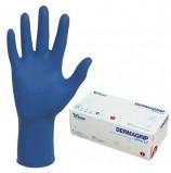 Перчатки нитриловые смотровые, КОМПЛЕКТ 100 пар (200 шт.), повышенная чувствительность, S, DERMAGRIP 'Ultra', D1101-27