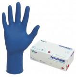 Перчатки нитриловые смотровые, КОМПЛЕКТ 100 пар (200 шт.), повышенная чувствительность, L, DERMAGRIP 'Ultra', D1103-27