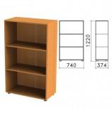 Шкаф (стеллаж) 'Фея', 740х370х1220 мм, 2 полки, цвет орех милан, ШФ13.5