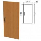Дверь ЛДСП низкая 'Фея', 365х16х785 мм, цвет орех милан, ДФ13.5