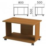 Стол журнальный 'Монолит', 800х500х500 мм, цвет орех гварнери, ЖМ02.3