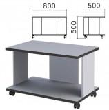 Стол журнальный 'Монолит', 800х500х500 мм, цвет серый, ЖМ02.11