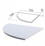 Стол приставной угловой 'Монолит', 700х700х750 мм, БЕЗ ОПОРЫ (640137), цвет серый, ПМ33.11