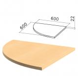 Стол приставной угловой 'Монолит', 600х600х750 мм, БЕЗ ОПОРЫ (640137), цвет бук бавария, ПМ38.1