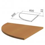 Стол приставной угловой 'Монолит', 600х600х750 мм, БЕЗ ОПОРЫ (640137), цвет орех гварнери, ПМ38.3