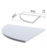 Стол приставной угловой 'Монолит', 600х600х750 мм, БЕЗ ОПОРЫ (640137), цвет серый, ПМ38.11