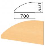 Экран-перегородка 'Монолит', 700х16х340 мм, БЕЗ ФУРНИТУРЫ (код 640237), бук бавария, ЭМ23.1