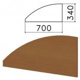 Экран-перегородка 'Монолит', 700х16х340 мм, БЕЗ ФУРНИТУРЫ (код 640237), орех гварнери, ЭМ23.3