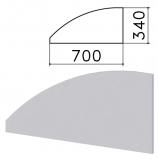 Экран-перегородка 'Монолит', 700х16х340 мм, БЕЗ ФУРНИТУРЫ (код 640237), серый, ЭМ23.11