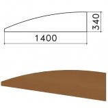 Экран - перегородка 'Монолит', 1400х16х340 мм, БЕЗ ФУРНИТУРЫ (код 640237), орех гварнери, ЭМ21.3