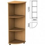 Шкаф (стеллаж) угловой 'Монолит', 390х390х1250 мм, 2 полки, цвет бук бавария, УМ47.1