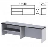 Надстройка для стола письменного 'Монолит', 1200х260х340 мм, 1 полка, цвет серый, НМ37.11