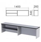 Надстройка для стола письменного 'Монолит', 1400х260х340 мм, 1 полка, цвет серый, НМ38.11