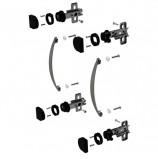 Фурнитура для двери стеклянной 'Эко' (640279), 'Этюд' (640359), комплект 2 шт., 400670-71