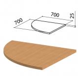 Стол приставной угловой 'Этюд', 700х700х750 мм, БЕЗ ОПОРЫ, бук бавария, 400051-55