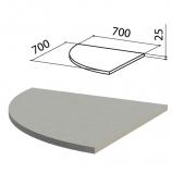 Стол приставной угловой 'Этюд', 700х700х750 мм, БЕЗ ОПОРЫ, серый, 400051-03