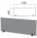 Экран-перегородка 'Этюд', 1200х18х430 мм, серый, 402866-03