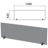 Экран-перегородка 'Этюд', 1400х18х430 мм, серый, 402867-03
