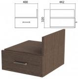 Тумба навесная для стола письменного 'Канц' 400х442х320 мм, ящик, цвет венге, ТК32.16
