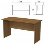 Стол письменный 'Бюджет' (ш1360*г600*в740 мм), орех французский, 402661-190