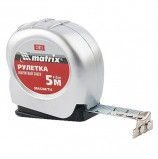 Рулетка измерительная 5,0 м х 19 мм, MATRIX 'Magnetic', магнитный зацеп, пластиковый корпус, 31011