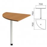 Стол приставной угловой 'Монолит', 700х700х750 мм, цвет орех гварнери (КОМПЛЕКТ)