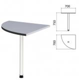 Стол приставной угловой 'Монолит', 700х700х750 мм, цвет серый (КОМПЛЕКТ)