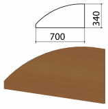 Экран-перегородка 'Монолит', 700х16х340 мм, цвет орех гварнери (КОМПЛЕКТ)