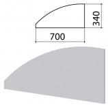 Экран-перегородка 'Монолит', 700х16х340 мм, цвет серый (КОМПЛЕКТ)