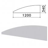 Экран-перегородка 'Монолит', 1200х16х340 мм, цвет серый (КОМПЛЕКТ)